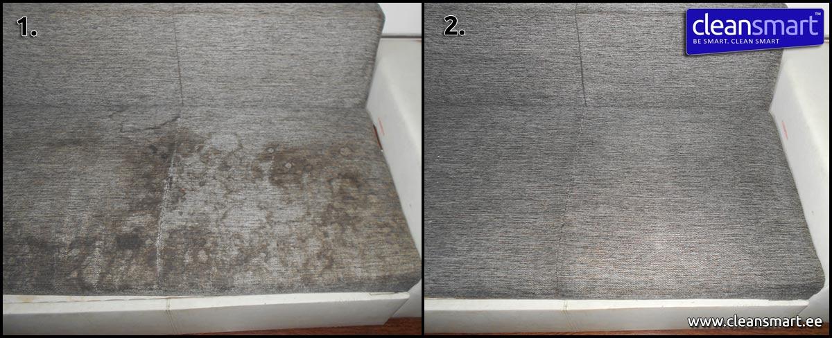 11107fe70dc Pisut väsinud ja võidunud diivan sai tänu põhjalikule keemilisele  puhastusele hoopis uue hingamise.